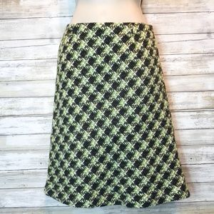NWT Tribal green/brown/black tweed skirt sz 4